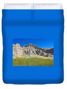 Trailhead For Saddle Pass Trail In Badlands National Park-south Dakota   Duvet Cover