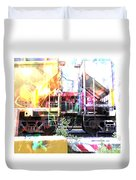 Train Abstract Blend 1 Duvet Cover