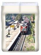 Train At Delhi Station Duvet Cover