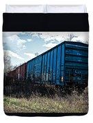 Train Boxcars Duvet Cover