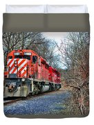 Train - Canadian Pacific Engine 5937 Duvet Cover