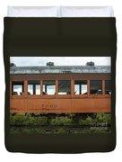 Train Coach Windows Duvet Cover