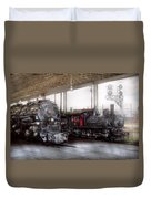 Train - Engine - 1218 - End Of The Line  Duvet Cover