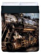 Train - Engine -  Now Boarding Duvet Cover