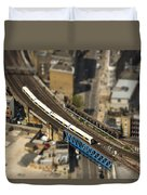 Train In London Duvet Cover