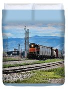 Train In The Mile High Duvet Cover