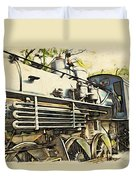 Train Is Coming Two Duvet Cover