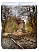 Train Memories Duvet Cover by Debra and Dave Vanderlaan