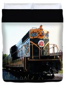 Train Museum - End Of The Line - Canadian National Railway Duvet Cover