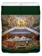 Train Set At Charleston Place Hotel Duvet Cover