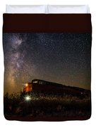 Train To The Cosmos Duvet Cover