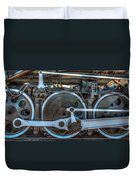 Train Wheels Duvet Cover