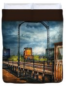 Train - Yard - On The Turntable Duvet Cover