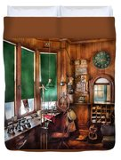 Train - Yard - The Stationmasters Office  Duvet Cover