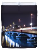 Tram Over A Bridge Duvet Cover
