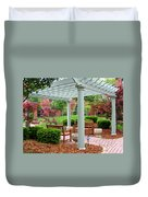 Tranquil Courtyard Duvet Cover