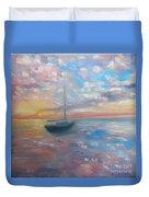 Tranquil Ocean Sunset Duvet Cover