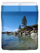 Tranquil Tahoe Beach Duvet Cover