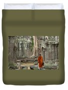 Tranquility In Angkor Wat Cambodia Duvet Cover by Bob Christopher