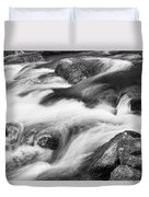 Tranquility In Black And White Duvet Cover