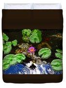 Tranquility - Lotus Flower Koi Pond By Sharon Cummings Duvet Cover