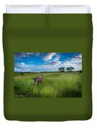 Tranquility On The Plains Duvet Cover