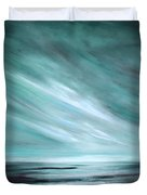 Tranquility Sunset Duvet Cover by Gina De Gorna