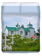 Transfiguration Of Our Lord Russian Orthodox Church In Ninilchik-ak Duvet Cover
