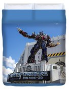 Transformers The Ride 3d Universal Studios Duvet Cover