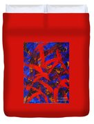Transitions With Blue And Red  Duvet Cover