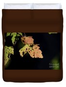 Translucent Maple Leaf Duvet Cover