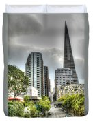 Transmerica Pyramid From The Embarcadero Duvet Cover