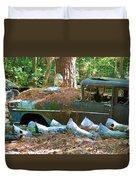 Transmission Row Duvet Cover