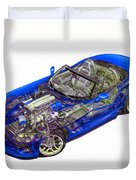 Transparent Car Concept Made In 3d Graphics 1 Duvet Cover