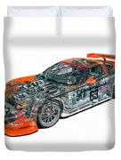 Transparent Car Concept Made In 3d Graphics 10  Duvet Cover