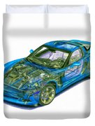 Transparent Car Concept Made In 3d Graphics 11 Duvet Cover