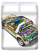 Transparent Car Concept Made In 3d Graphics 2 Duvet Cover