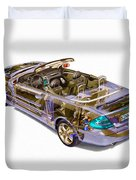 Transparent Car Concept Made In 3d Graphics 6 Duvet Cover