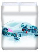 Transparent Car Concept Made In 3d Graphics 7 Duvet Cover