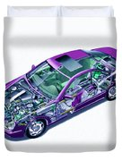 Transparent Car Concept Made In 3d Graphics 8 Duvet Cover