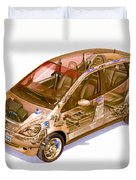Transparent Car Concept Made In 3d Graphics 9 Duvet Cover