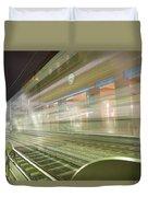 Transparent Trains Duvet Cover