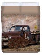 Transportation - Rusted Chevrolet 3100 Pickup Duvet Cover