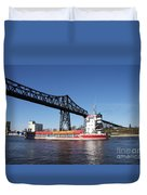 Transporter Bridge Over Canal Rendsburg Duvet Cover