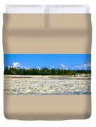 Trapper Creek And Mount Mckinley, Alaska Duvet Cover