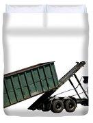Trash Truck Duvet Cover by Olivier Le Queinec