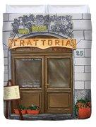Trattoria Del Vino Buono Duvet Cover