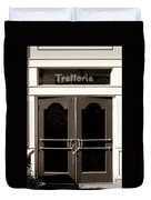 Trattoria Door Palm Springs Duvet Cover