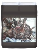 Trauma With Wolf Duvet Cover