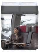 Travel In Train Duvet Cover